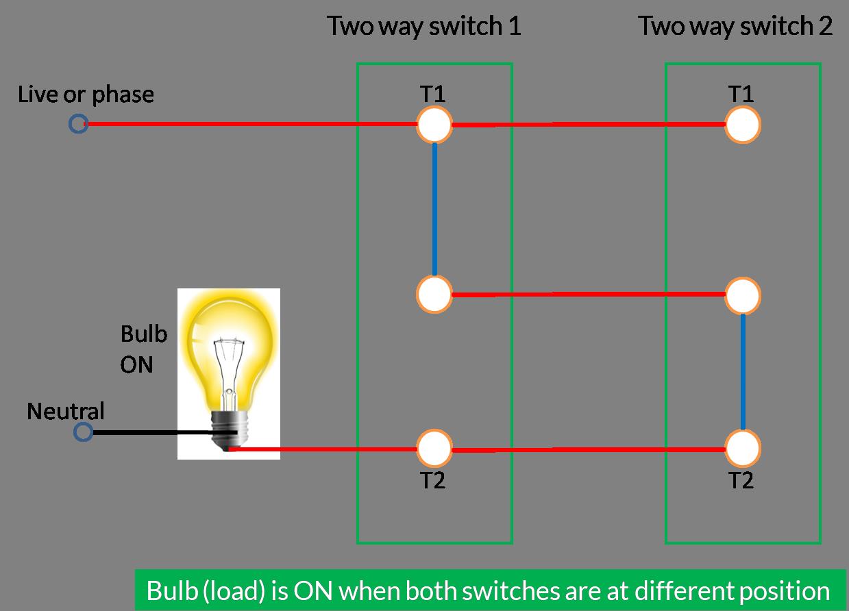 How Two Way Switch Works  U2013 Bytesofgigabytes