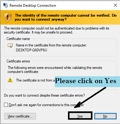 remote desktop connection permission