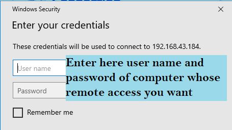 Remote desktop connection access