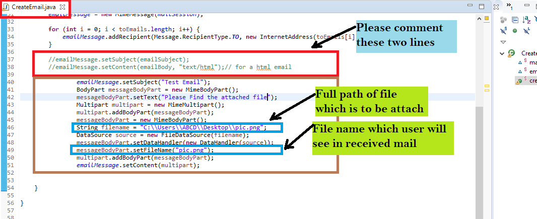 java send email with attachment