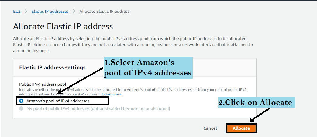 elastic ip address in aws