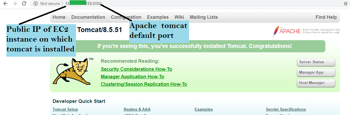 check Apache tomcat installed successfully